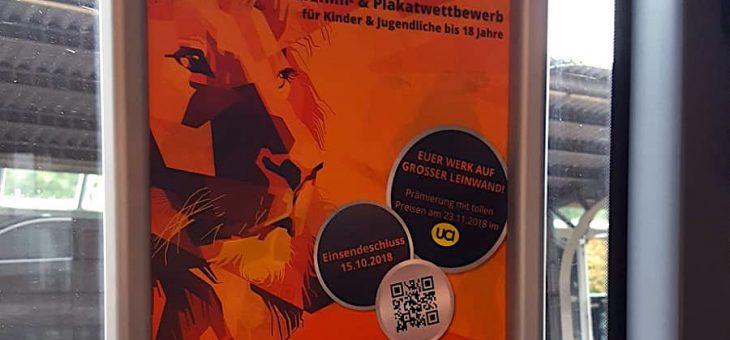 Plakate in Flensburgs Bussen